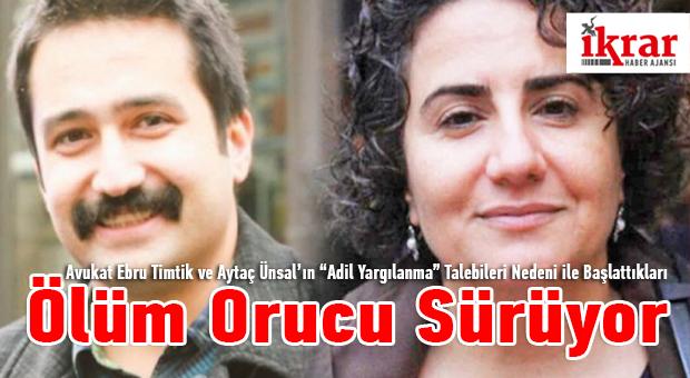 """Avukat Ebru Timtik ve Aytaç Ünsal'ın """"Adil Yargılanma"""" Taleplerini birlikte Omuzlayalım."""