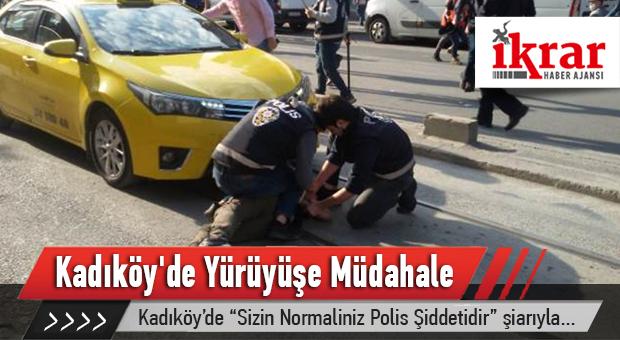 Kadıköy'de Yürüyüşe Müdahale