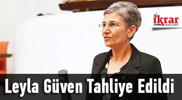 HDP Hakkari Milletvekili Leyla Güven, tutuklu bulunduğu Diyarbakır Kadın Cezaevi'nden tahliye edildi.