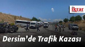 Dersim'de Trafik Kazası