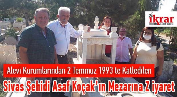 Asaf Koçak'ın Mezarı, ABF ve PSAKD Yöneticileri Tarafından Ziyaret Edildi