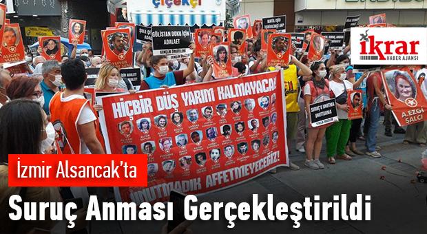 İzmir Alsancak'ta Suruç anması gerçekleştirildi