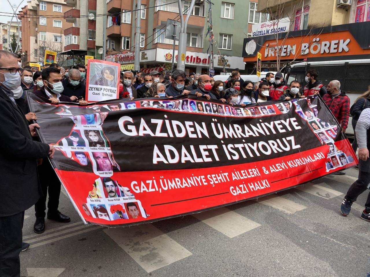 Gazi ve Ümraniye Katliamı Şehitleri için yürüyüş başladı