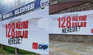 """""""128 Milyar Dolar Nerede?"""" Afişlerine Cumhurbaşkanına hakaret soruşturması"""