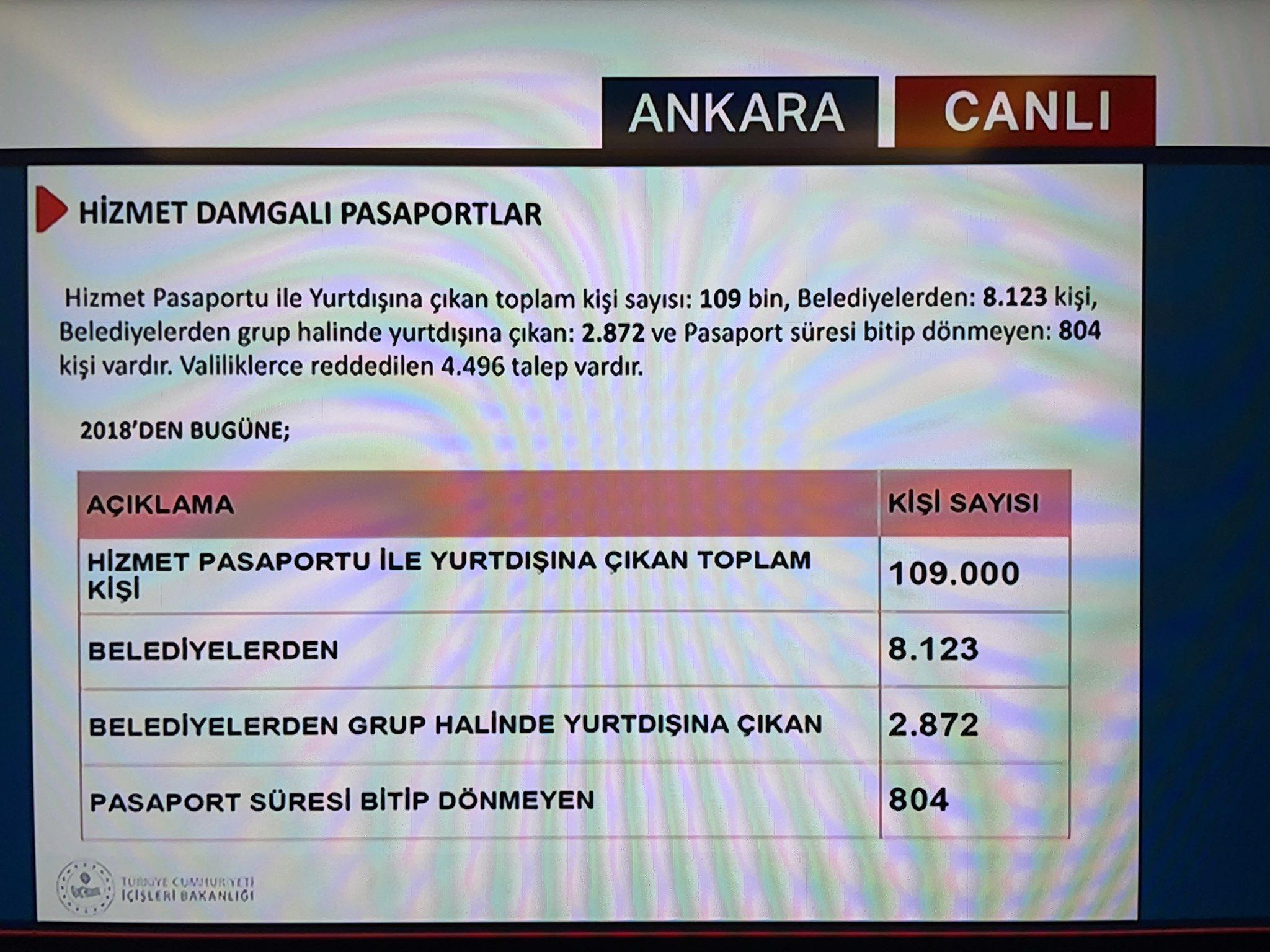 Süleyman Soylu: 804 kişi gri pasaportla gitti ama dönmedi