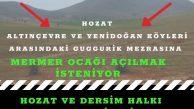 """DEDEF: """"Mermer ocağına karşı Dersim için mücadele edeceğiz"""""""