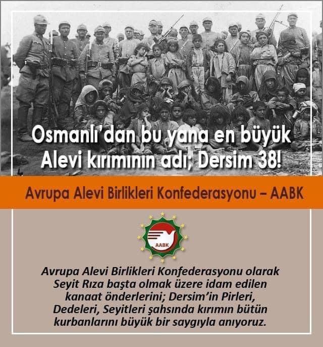 """AABK: """"Osmanlı'dan o güne Alevilerin en büyük kıyımıdır Dersim"""""""