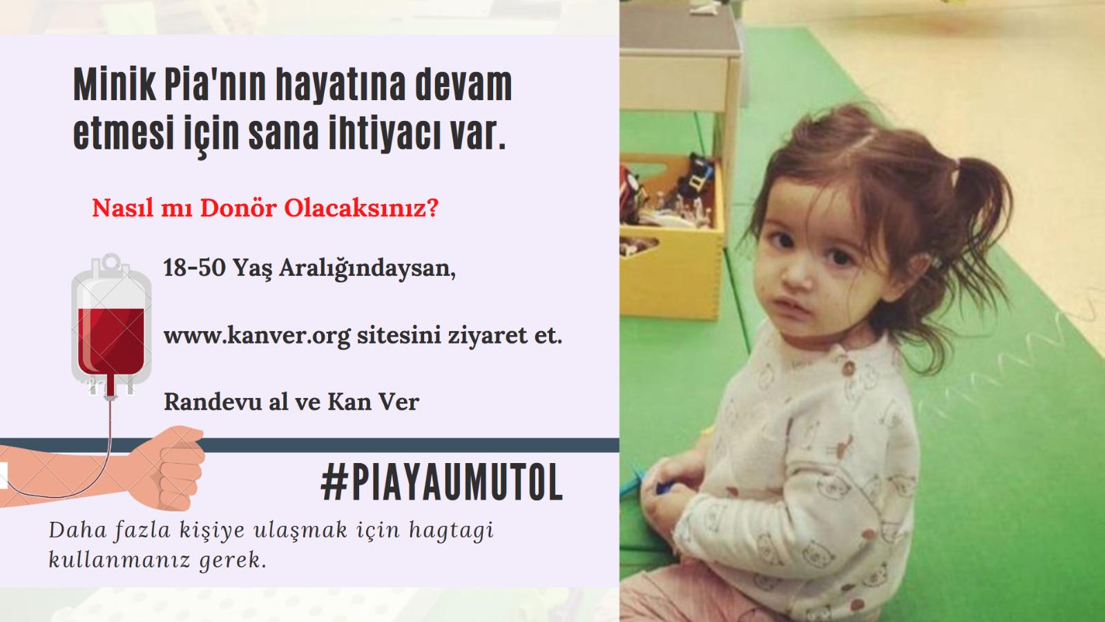Çocuklardan Pia için çağrı (VİDEO)
