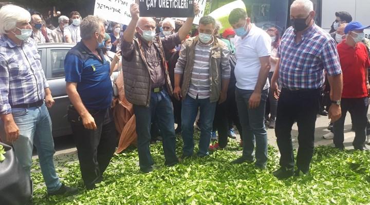 ÇAYKUR'un kota uygulamasını protesto edenlere polis saldırdı; 20 Gözaltı