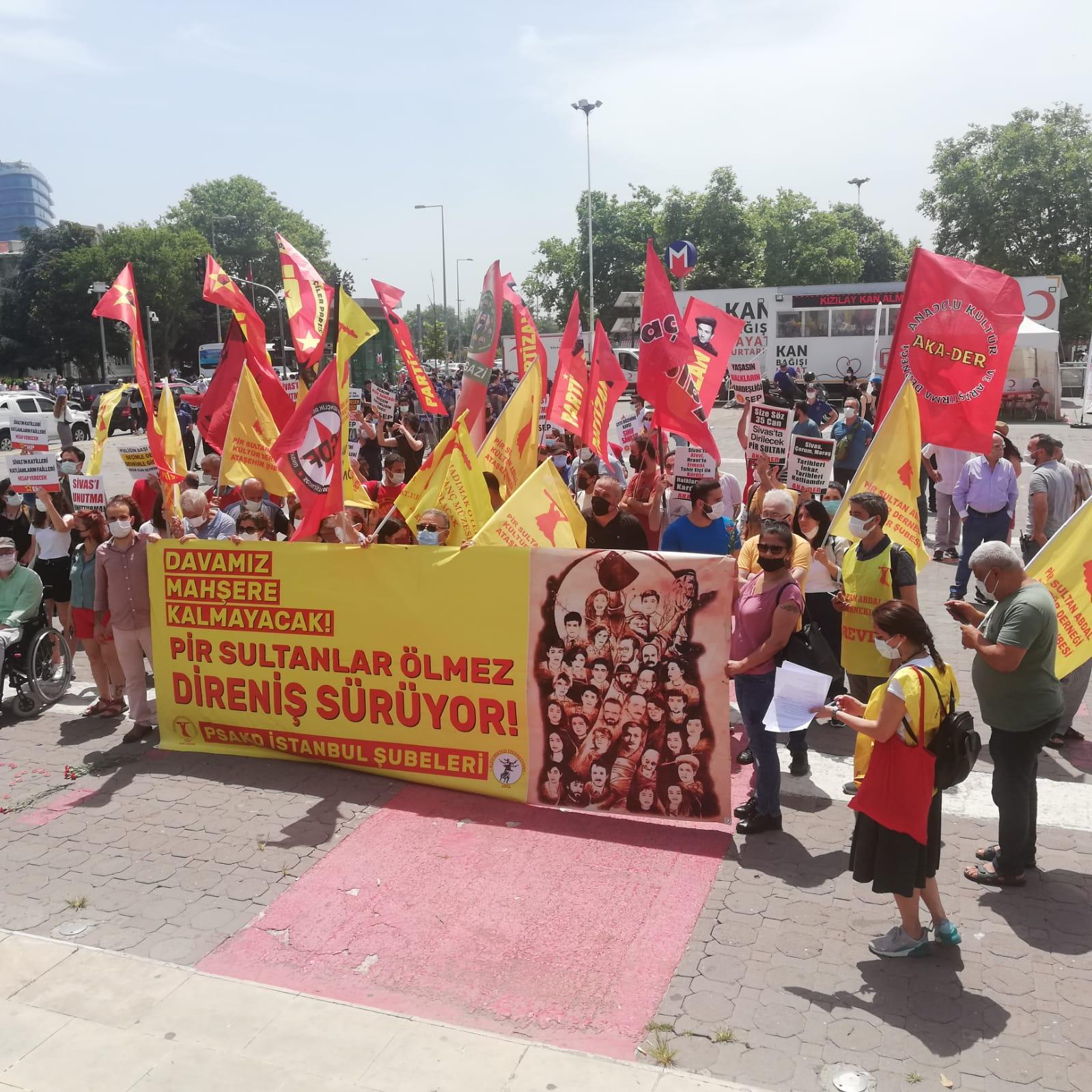 PSAKD İstanbul Şubeleri 2 Temmuz Madımak Katliamı'nda katledilenleri andı