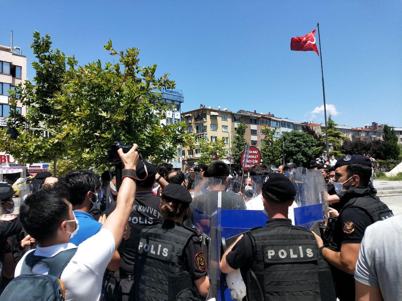 Ankara'ya yürüyen Suruç aileleri polis ablukasına alındı