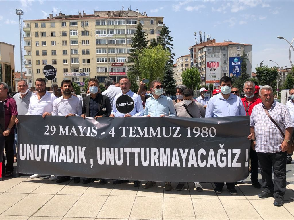 Çorum Katliamı'nda hayatını kaybedenler 41 yıl sonra yanı yerde anıldı