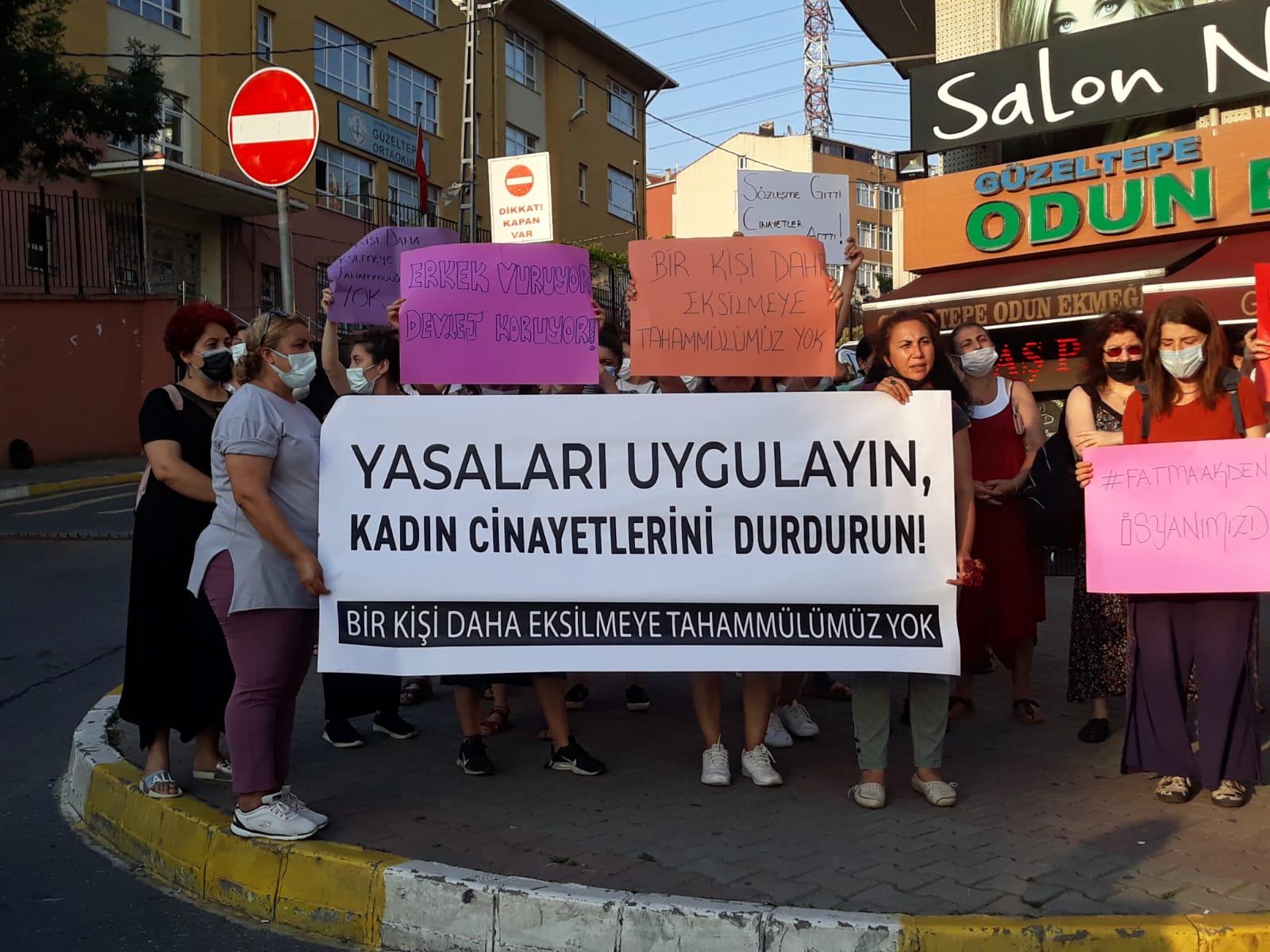 Güzeltepe Halkı katledilen Fatma Akdeniz için yürüdü
