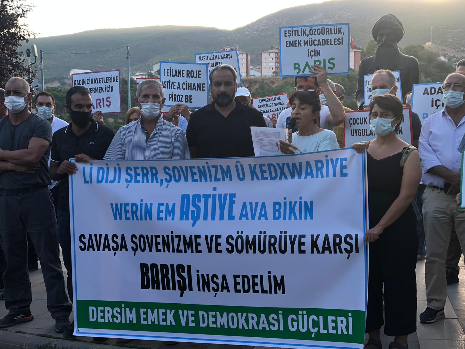 """Dersim Emek ve Demokrasi Güçleri; """"Dünyada mutlak barışı sonuna kadar savunacağız"""""""