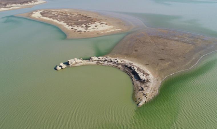 Baraj suları çekilince Antik kent gün yüzüne çıktı