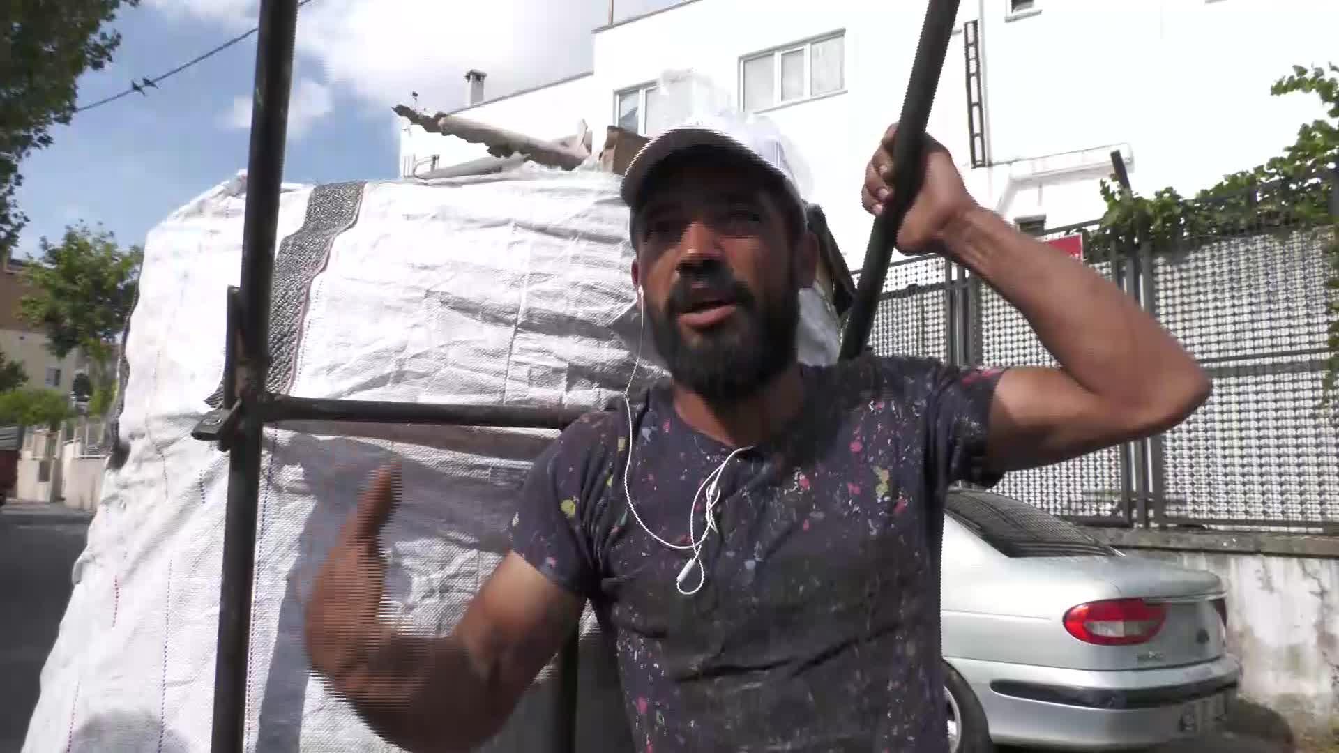 Kağıt Toplayıcıları Depo Baskınlarına karşı basın açıklaması gerçekleştirdi