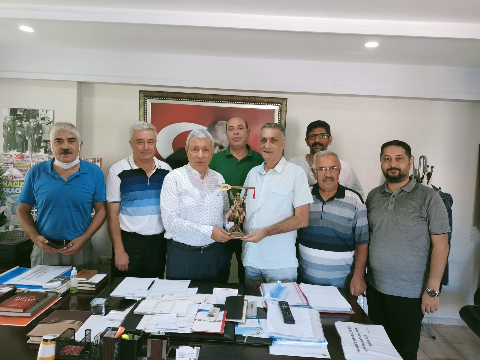 PSAKD Seyhan Şubesi'nden CHP'li Sümer'e ziyaret