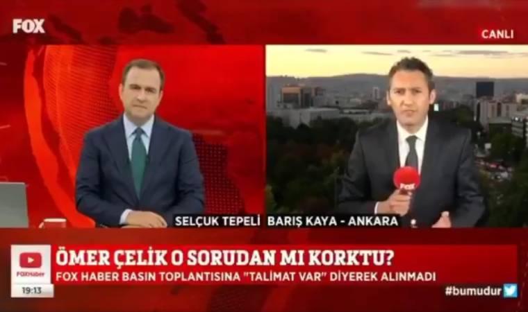 AKP Sözcüsü soru sorulmasın diye FOX Muhabirini toplantıya almadı