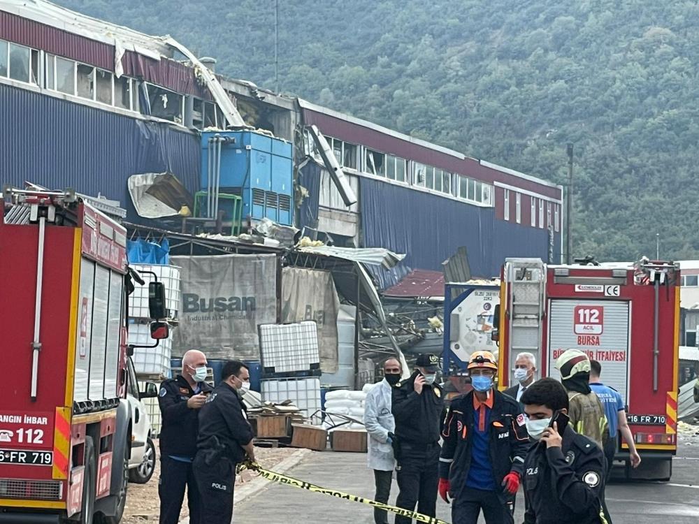 Bursa'da Plastik Fabrikasında patlama; 1 işçi hayatını kaybetti